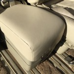 Cream Car Seat Leather After Repair