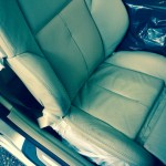 Cream Car Seat Leather Before Repair