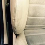 Cream Car Seat Stitching After Repair
