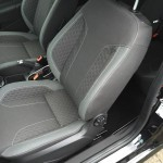 Black Car Seat Stitching Before Repair